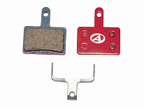 Колодки AUTHOR BRAKE PADS ABS-23 SHI B01 red